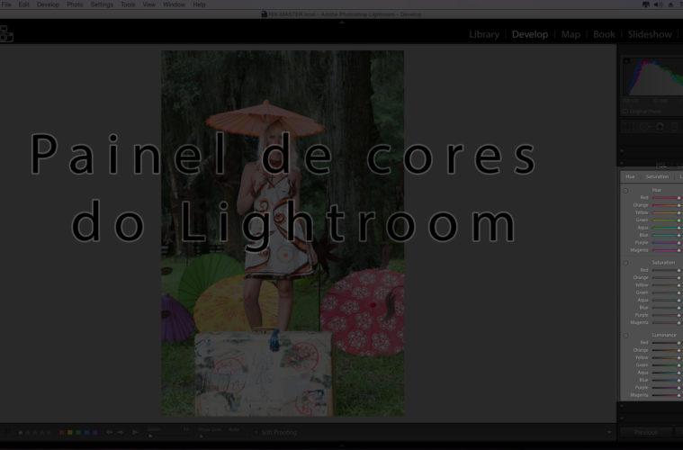 Painel de ajuste de cor do Lightroom